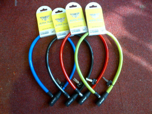 Alpha Plus Bicycle Loop Lock with Two Keys and a choice of colour 10mm x 650mm