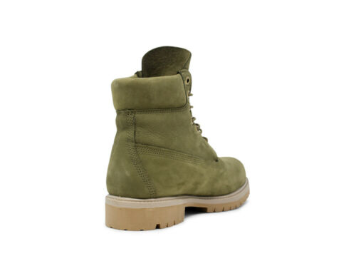 TIMBERLAND 6 INCH MENS LIGHT GREEN NUBUCK PREMIUM BOOTS A1YQ1 SIZES 6-11