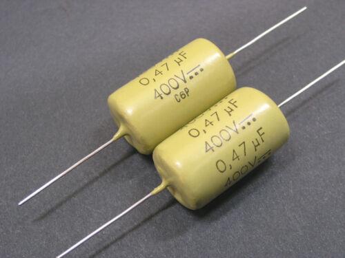 x 2 PIECES. 2x Mustard Mullard Guitar Audio Capacitors   0.47uF 400V 470nF