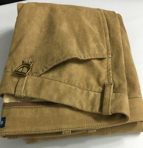 Polo-Ralph-Lauren-Womens-Pants-Khaki-Brown-10-Cotton-Lined-Lamb-Suede