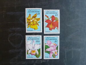 1994-DOMINICA-ORCHIDS-SET-OF-4-MINT-STAMPS-MNH
