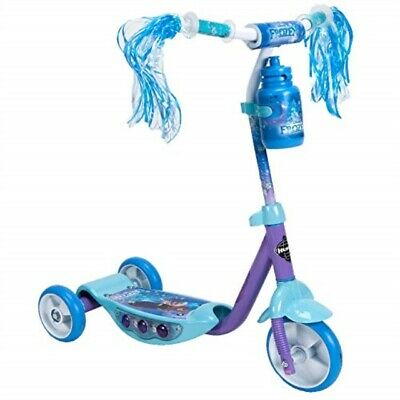 Streamers /& A Water Bottle Huffy Disney Frozen Preschool Scooter W// Lights