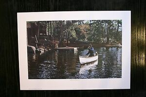 A Boy And His Dog W.D. Ward Open Edition Collectors Print Canoe Cottage Living