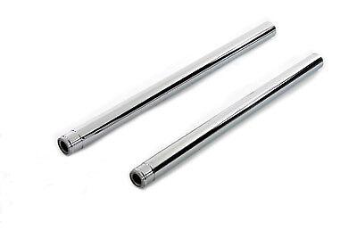"""V-Twin 24-0413 Chrome 41mm Fork Tube Set 26-1//4/"""" Total Length"""