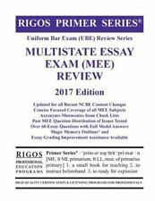 rigos primer series uniform bar exam ube review multistate essay  rigos primer series uniform bar exam ube review multistate essay exam mee