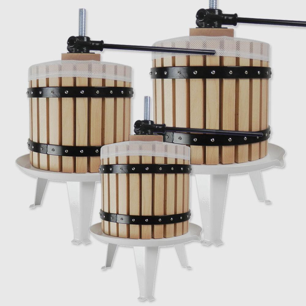 Fruit Press Wine Making Tool Grape Cider Berry Pear Apple Juice 6 12 or 18 Litre