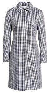 Nordstrom-Gingham-Black-White-Anne-Klein-Lightweight-Coat-Jacket-Size-8-Medium