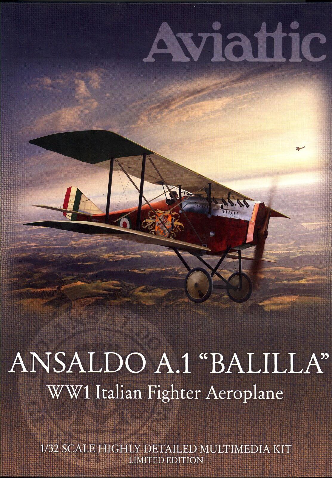 Aviattic Modelos  Ansaldo A.1 hablar italiano combatiente de la I Guerra Mundial