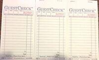 3 Pack G6000 Guest Checks Book Waitress Pad Carbon Copy 15 Line 50 Page Booklet