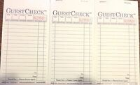 3 Pack G6000 Guest Checks Book Waitress Pad Carbon Copy 15 Line 50 Page Booklet