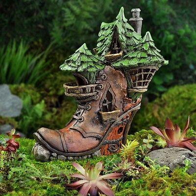 Fiddlehead Fairy Garden LADIES BOOT HOUSE - NIB
