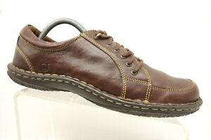 born brown leather casual lace up oxfords shoes women's 43