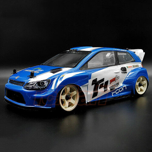 RCON R4WRC Racing Sedan 1mm Lexan Clear Body For 1:10 208mm M-Chassis #RCB-M009