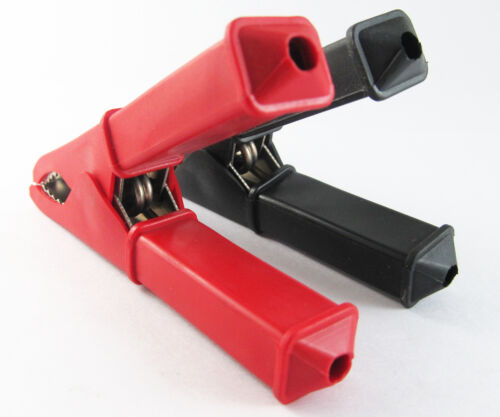 2 Pcs Haute Qualité Laiton Batterie Clip Isolé Pince 100 Mm 100 A Rouge /& Noir Nouveau