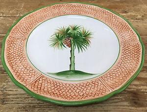 Image Is Loading Vietri Dinner Plate 2 Oasi Oasis Palm Tree