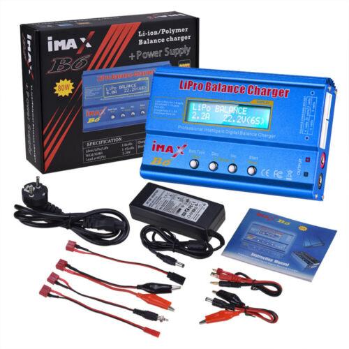iMAX B6 LCD Screen 80W Digital RC Lipo NiMh Battery Balance Charger Adapter