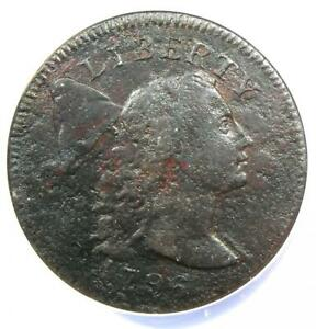 1796 Liberty Cap Large Cent 1C Coin - Certified ANACS VF20 Details - Rare Coin!