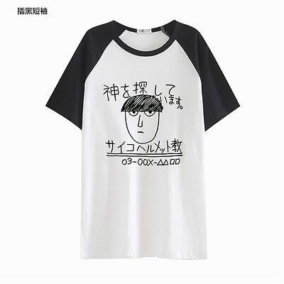 Mob Psycho 100 Kageyama Shigeo Casual Short Sleeve T-shirt Tees Cosplay