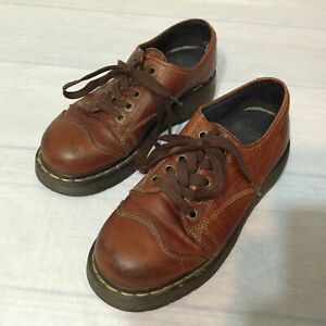 dr martens 8651 oxfords brown leather shoes size 8  ebay