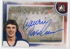 2012-13 ITG Forever Rivals Autographs LB Laurie Boschman Auto