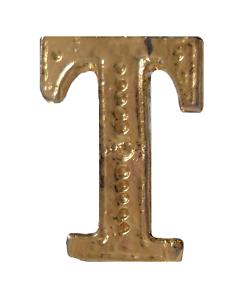Letter T Gilded Orange Order Collarette Character