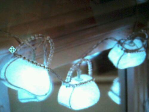 10 sac à main blanc fée lumières table anniversaire partie de poule filles chambre mariage