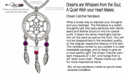 DREAMS ARE WHISPERS FROM THE SOUL A QUIET WISH YOUR HEART MAKES NECKLACE #C /'