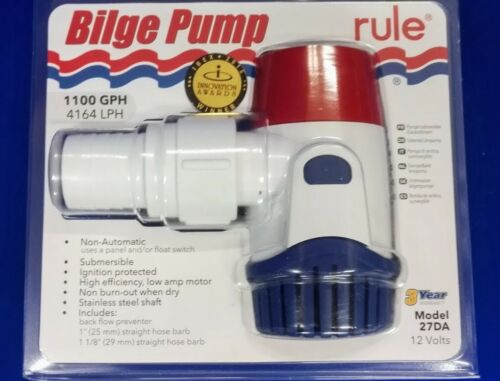 4164 LPH Non-Automatic rule Bilge Pump 1100 GPH