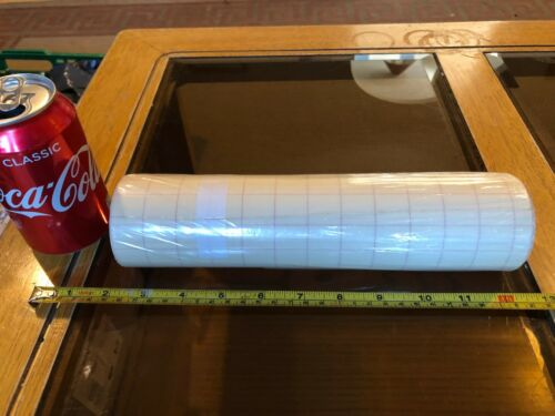 Clear Sticky Back Plastic Roll 6cm Diameter 25cm Long New Lined 2cm Squares