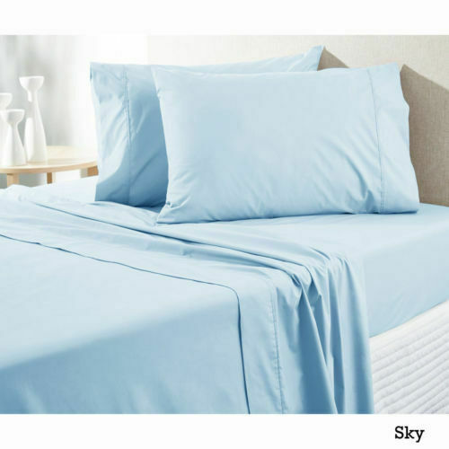 Super Quality Bedding item Light bluee Solid All USA Size 100% Cotton 400-TC