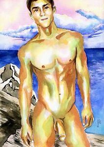 Gay male art cartoons