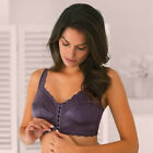 #B61 Front Closure Wire Free Lace Bra Plus Size 16 18 20 22 24 26 28 B C D E Cup