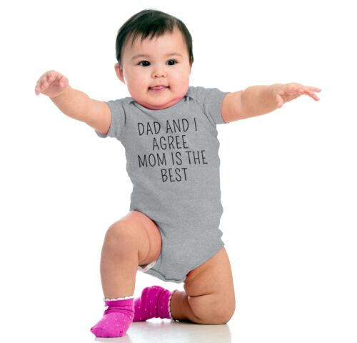 Dad and Mom Agree Best Baby ClothesCute Gift Idea Newborn Gerber Onesies