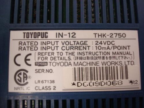 USED Toyoda Toyopuc IN-12 THK-2750 Input Module