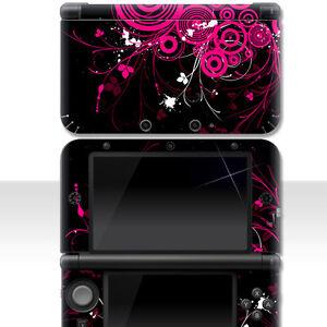 Nintendo-3DS-XL-Skin-034-PINK-FLORAL-034-Aufkleber-Sticker-3DSXL