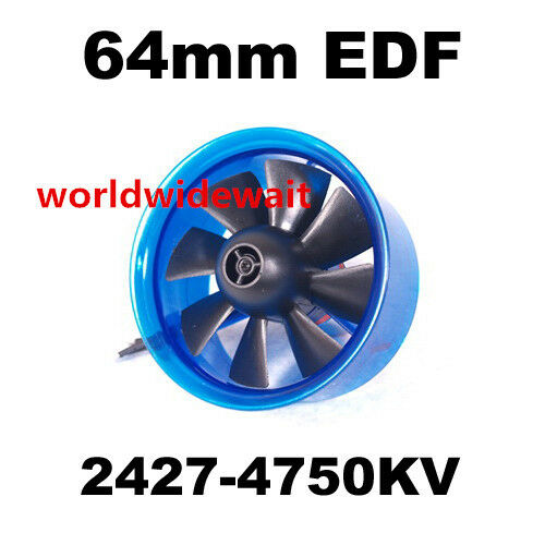New HL6408 2427 4750KV Motor EDF 64mm Ducted Fan for RC Aircraft Airplane