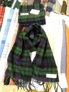 100-Lambswool-Scarf-by-lochcarron-Black-Watch-Made-in-Scotland-Tartan