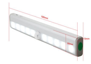 Wireless Motion Sensor Cabinet LED Light Wardrobe Cupboard PIR 10LED Battery - <span itemprop=availableAtOrFrom>Borehamwood, United Kingdom</span> - Returns accepted - Borehamwood, United Kingdom