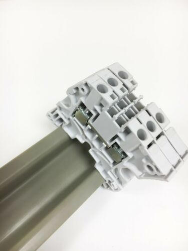 25cm 50cm 1 Meter Lengths PVC Din Rail /'Top Hat/'