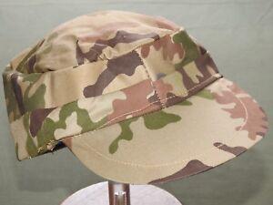 Egyptian-Gulf-War-034-SCRAMBLED-EGGS-034-CAMO-FATIGUE-CAP-Vtg-Camouflage-Combat-Hat