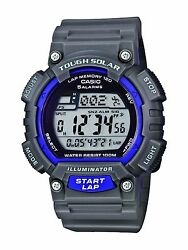 Casio Core Men's Digital Solar-Powered Gray Resin Watch