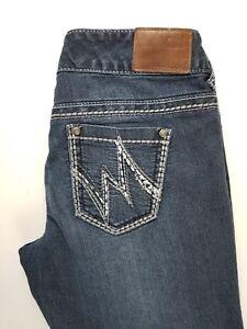Maurices-Straight-Capri-X-short-Stretch-Womens-Jeans-Sz-3-4