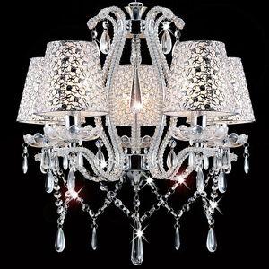 Das Bild Wird Geladen Glas Kristall Kronleuchter Deckenleuchte Luester Lampenschirme Wohnzimmer Leuchte