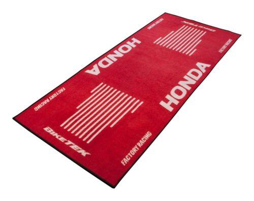 For Honda VFR 800 FI Biketek Red White Workshop Garage Mat Christmas Gift