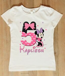 Image Is Loading Minnie Mouse Birthday Shirt Personalized