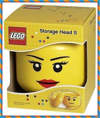 LEGO STORAGE HEAD BRICK YELLOW SMALL GIRL Lego Storage Head Small Girl Yellow