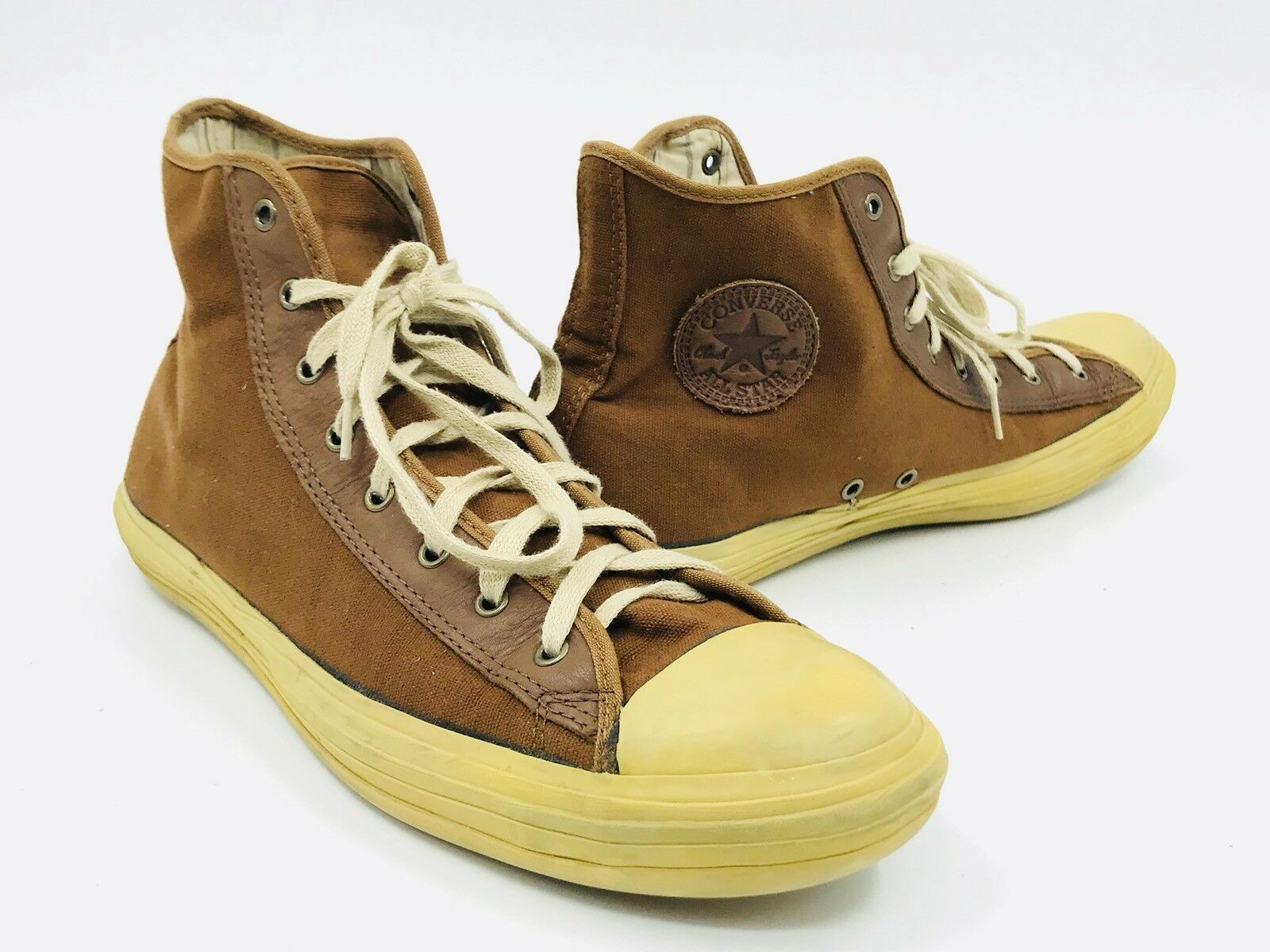 5bd4572c73f Converse John Varvatos Brown Hightop Sneakers Mens Size 12 - Rare ...