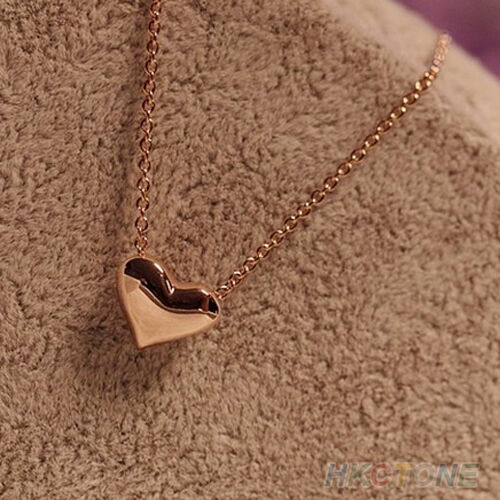 Women's Jewelry Gold Plated Heart Bib Statement Chain Pendant Necklace Sanwood