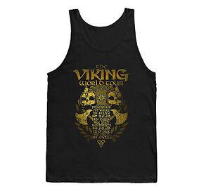 VIKING-WORLD-TOUR-VEST-TANK-TOP-MUSCLE-GYM-SINGLET-VIKINGS-T-SHIRT