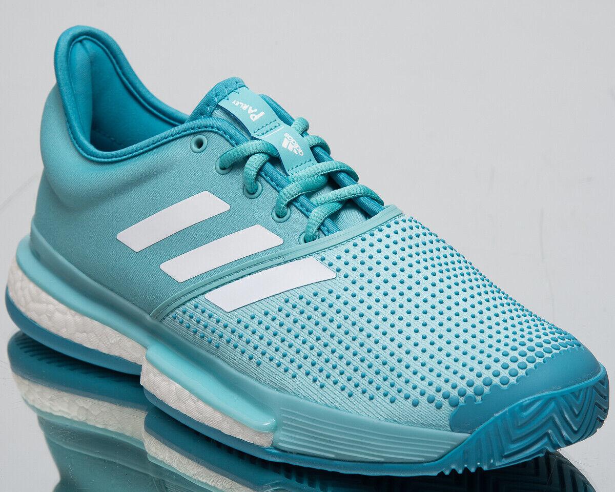 Adidas SoleCourt Boost x Parley Men's New bluee Spirit White Tennis shoes CG6339